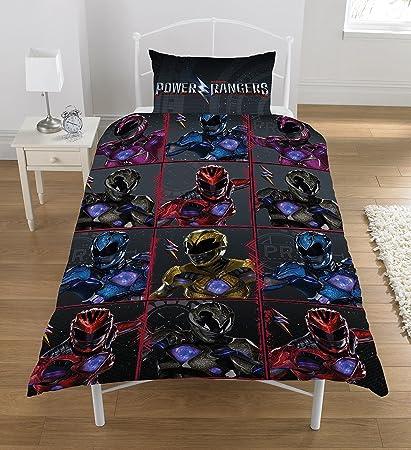 Power Rangers Block Reversible Rotary Single Bed Duvet Quilt Cover Set