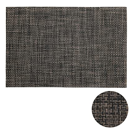 Deconovo Heat Insulation Stain Resistant Spillproof Table Mats Classic Woven Vinyl Kitchen Placemats Sets Black and  sc 1 st  Amazon.com & Amazon.com: Deconovo Heat Insulation Stain Resistant Spillproof ...