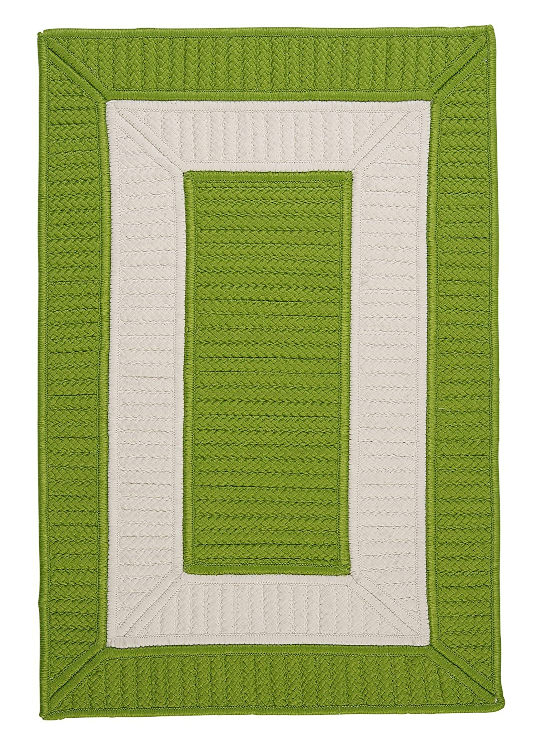 Rope Walk CB91SAMPLES Sample Swatch Rugs, 14 x 17, Bright Green