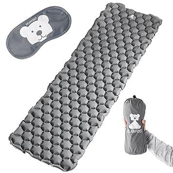Bear Foot Dormir Matte/Colchón de Aire/colchoneta Aislante Ultraligera con Aire Celdas –