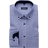 eterna Camisa Comfort Fit Button-Down Cuello Patch 4176/19 E144