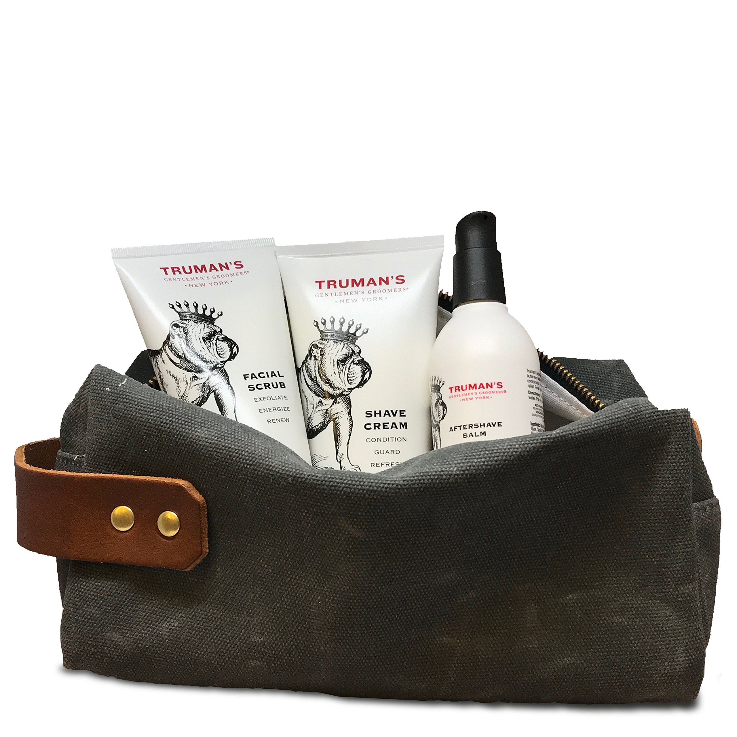 Truman's Gentlemen Groomers Holiday Dobb Kit, Facial Scrub, Shave Cream, and Aftershave Balm