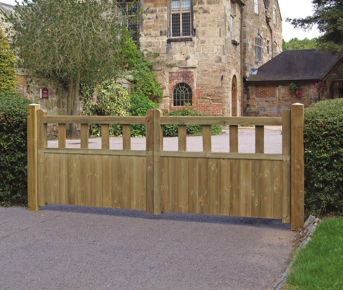 fortress driveway gates 2 4m amazon co uk kitchen u0026 home
