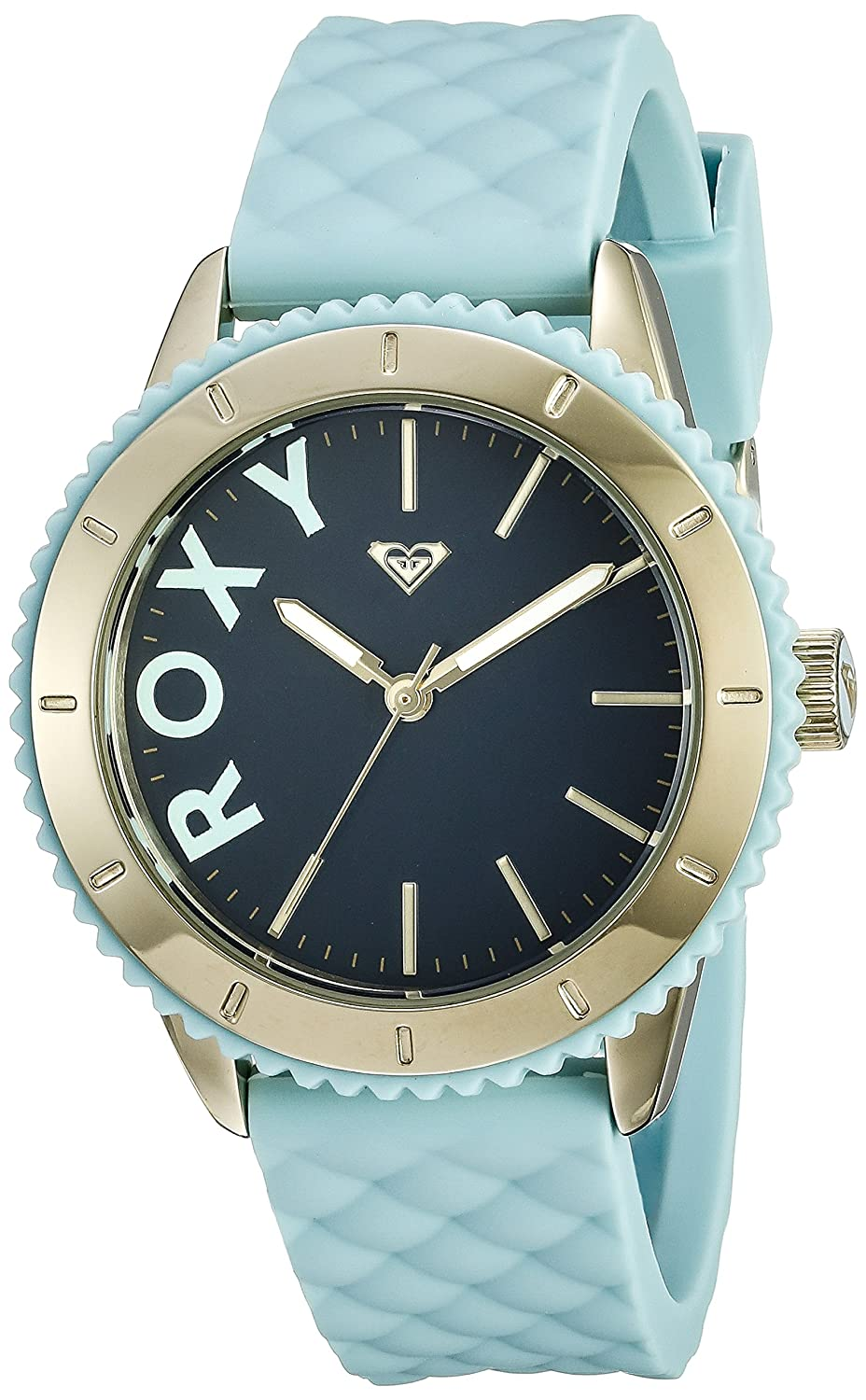 Roxy Damen-Armbanduhr The Del Mar Analog Silikon Blau RX-1013DBGP