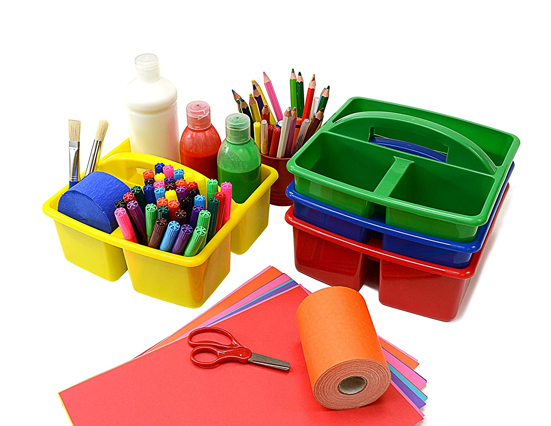 Classroom Desktop Storage Caddies Pack of 4 230 x 230 x 130mm