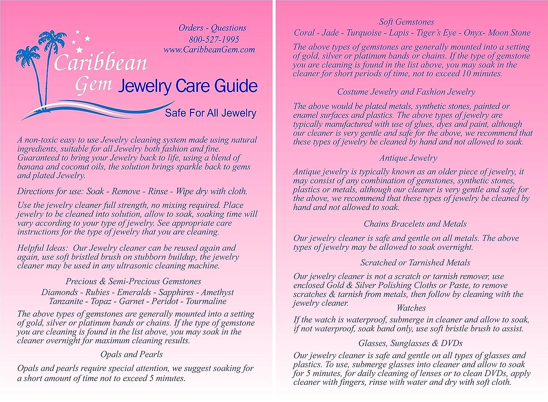 Amazon.com: Caribbean Gem Banana & Coconut Oil Jewelry Cleaner ...