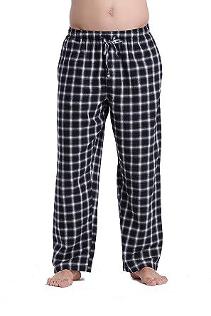CYZ Men's 100% Cotton Super Soft Flannel Plaid Pajama Pants at ...