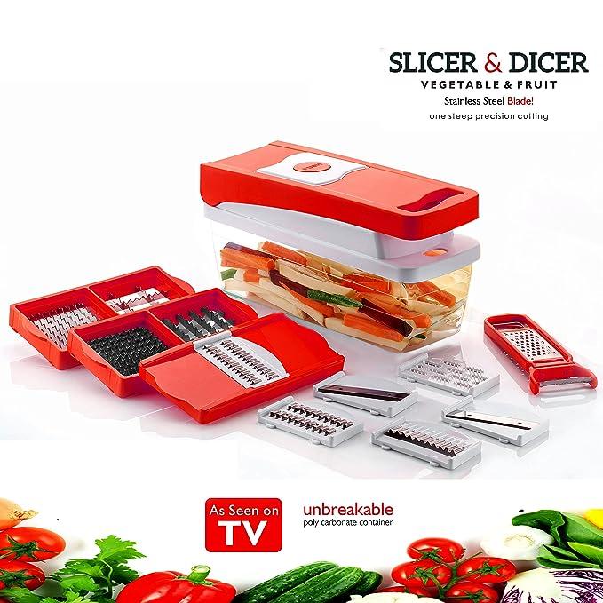 Kitchen Bazaar 13 In 1 Premium Nicer Fruit & Vegetable Cutter