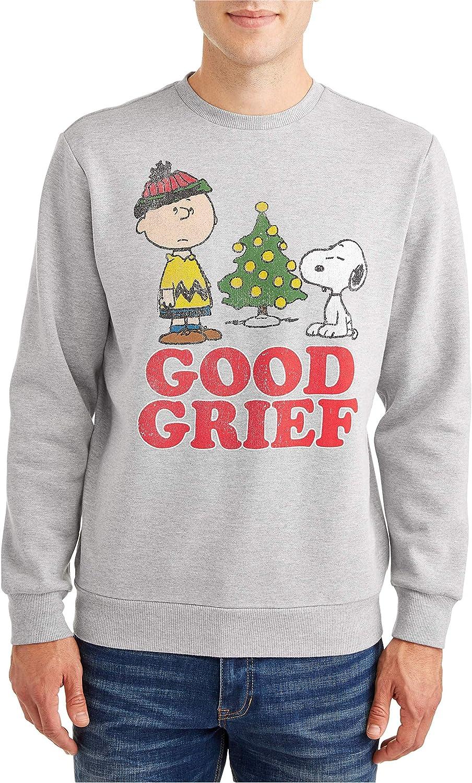 Peanuts wholesale Men's A Charlie Brown half Graphic Snoopy Sweatshir Christmas