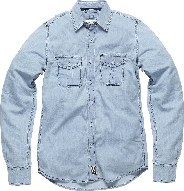 Dickies azul Collar - Camisa para hombre, Azul (blue), Medium (Talla del fabricante: Medium): Amazon.es: Ropa y accesorios