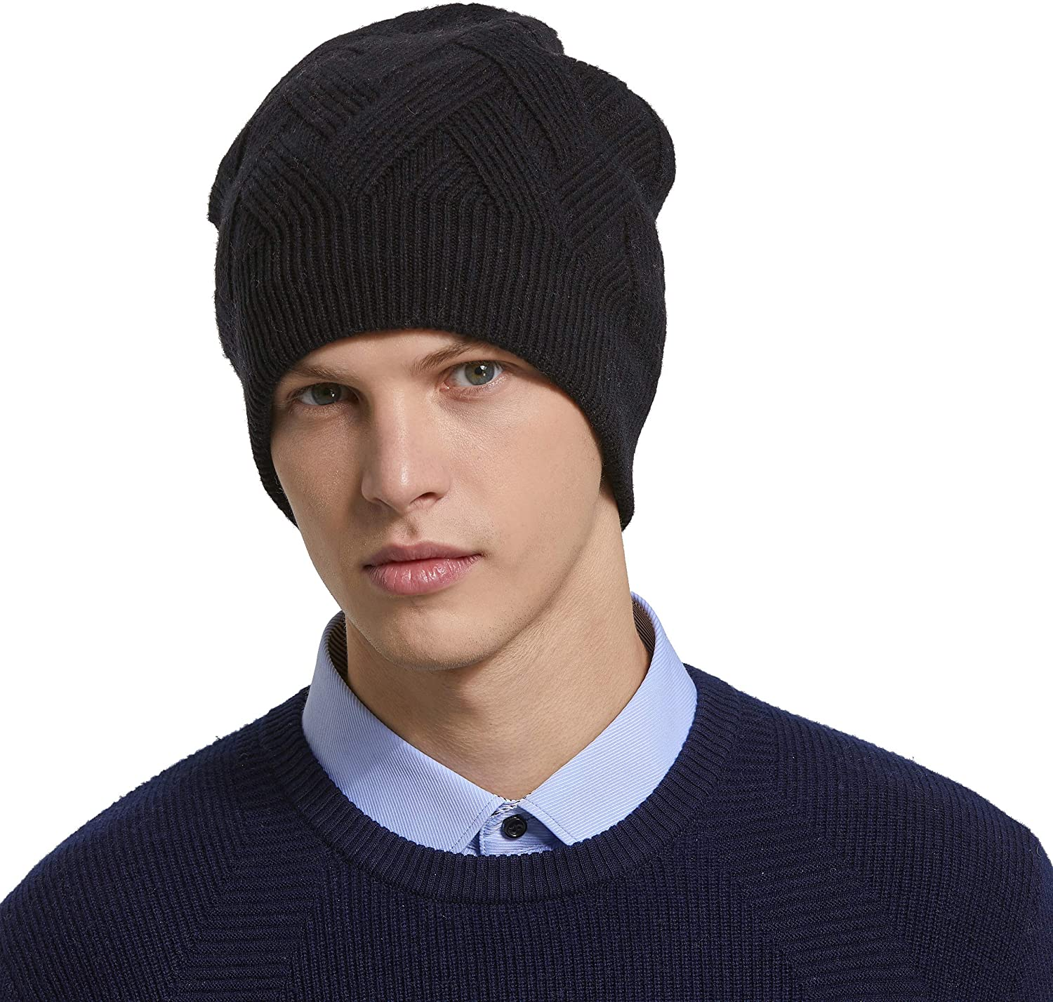 New Mens Ladies Knitted Woolly Stretchy Warm Beanie Hat Cap Skateboard Winter