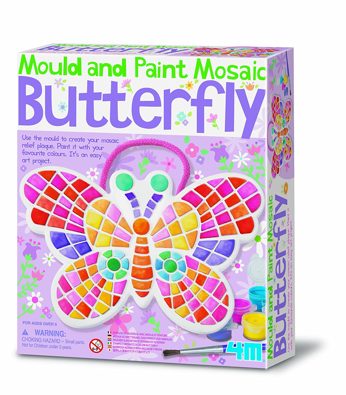 4M Mould And Paint Butterfly Mosaic Amazoncouk Toys Games