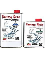 0,75 Kg (Varios Pesos disponibles) Fantasy Resin, Resina epoxi TRANSPARENTE Brillo perfecto bicomponente de colada