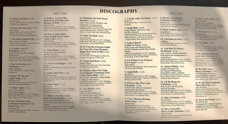 Bing Crosby, Gene Autry, Perry Como, Nat King Cole, Elvis Presley ...