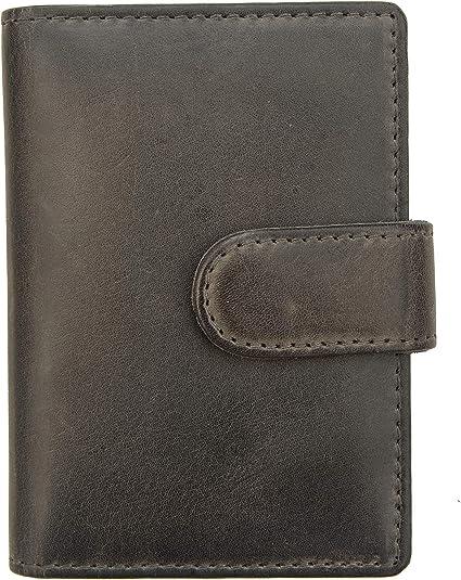 Luxury tan hide leather card holder wallet by Prime Hide NEW-Mens Tan Wallet