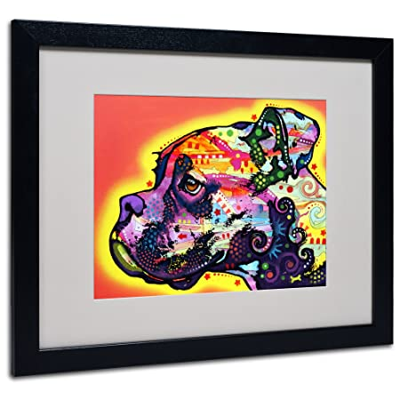 Profile Boxer Matted Artwork by Dean Russo with Black Frame, 16 by 20-Inch