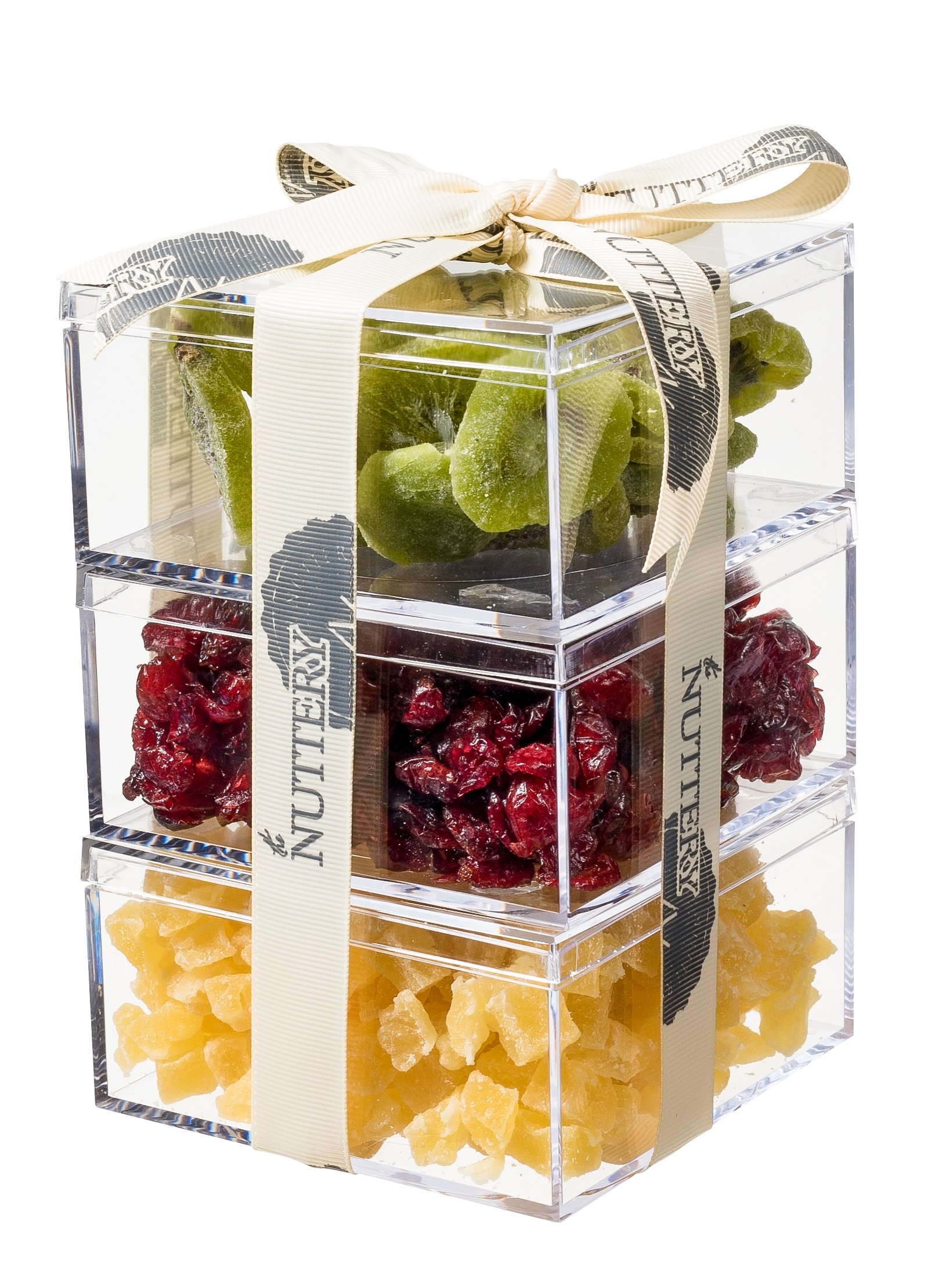 The Nuttery Premium Dried Fruit Gourmet Gift Tower ~ Kiwi ~ Cranberry ~ Pineapple ~