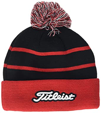 8e130cd93 Titleist Men's Pom Beanie, Red (Rojo/Negro 06), One (Size: Unica ...