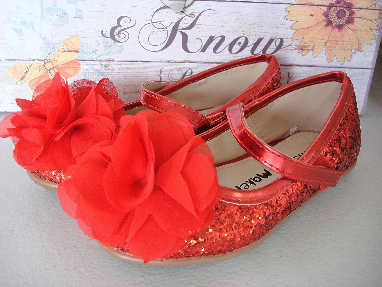 Wedding Party Flower Girl Sparkling S Flower Shoes Glitter Sparkling