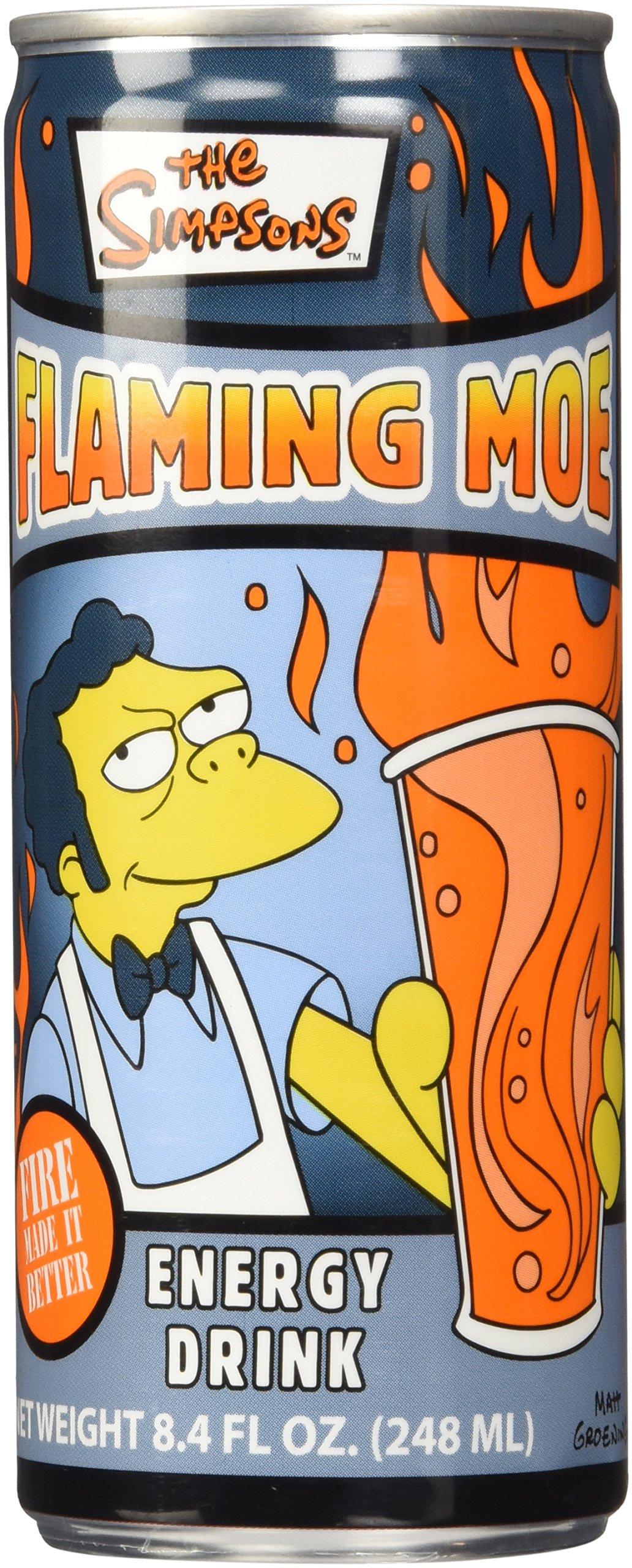 The Simpsons Flaming Moe Energy Drink,8.4 FL OZ.