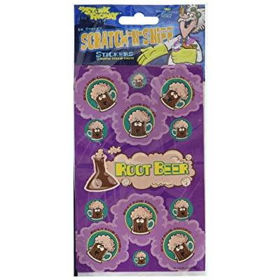 Just For Laughs Dr Stinky's Root Beer Scratch-and-Sniff Stickers, 2 Sheets 4 x 6 3/4, 26 Stickers: Toys & Games