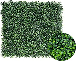 "Artificial Boxwood Panels Topiary Hedge Plant Privacy Screen Outdoor Indoor Use Garden Fence Backyard Home Decor Greenery Walls Pack of 12 Pieces 20"" x 20"" Green"