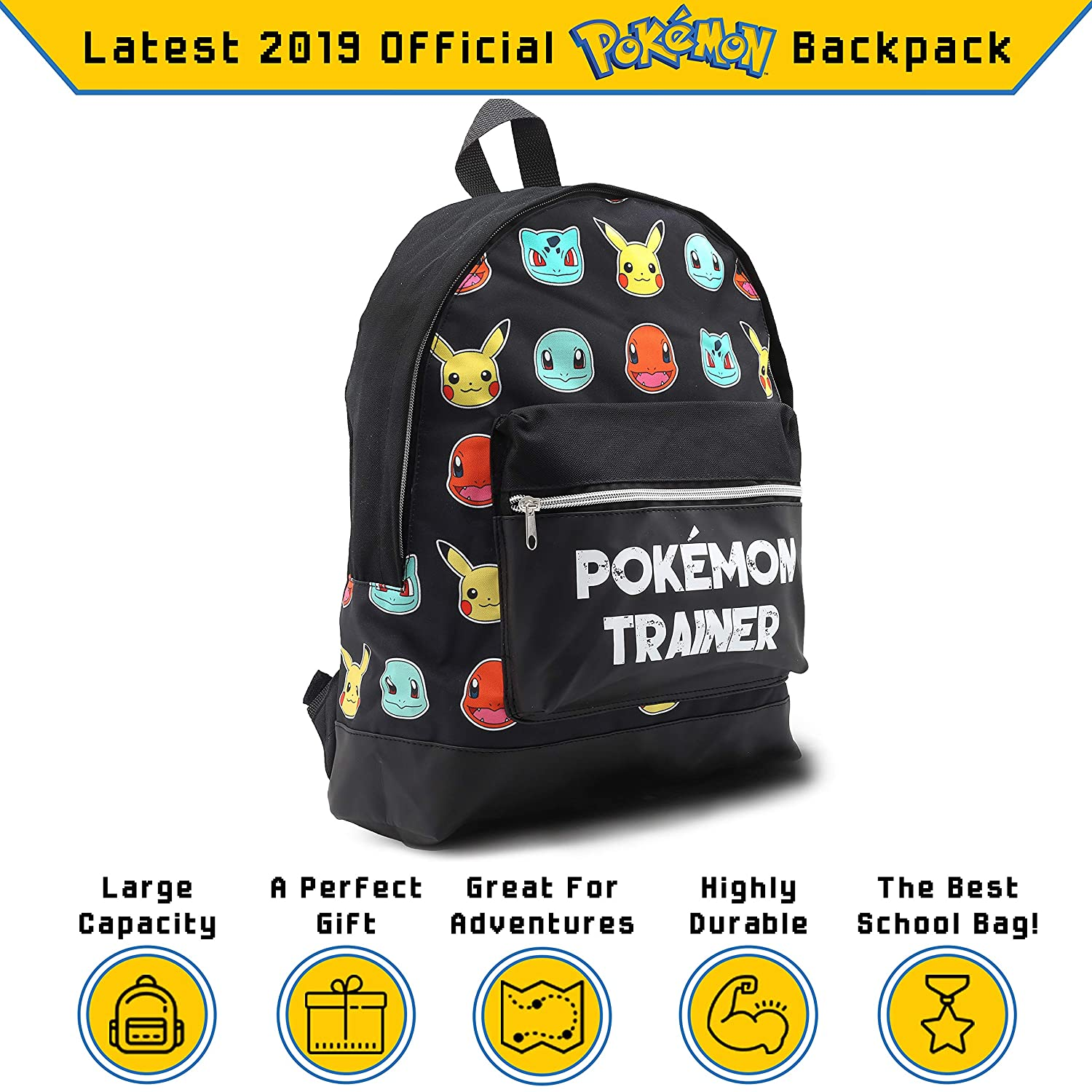 76539273f5 Cartable Pokemon Primaire Sac a Dos Enfant Garcon Fille College Gymnase  avec Let's Go Pikachu Bulbasaur Charmander: Amazon.fr: Bagages