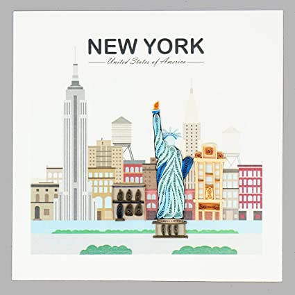 Amazon wow new york city quilling greeting card for all wow new york city quilling greeting card for all occasions travel birthday love m4hsunfo