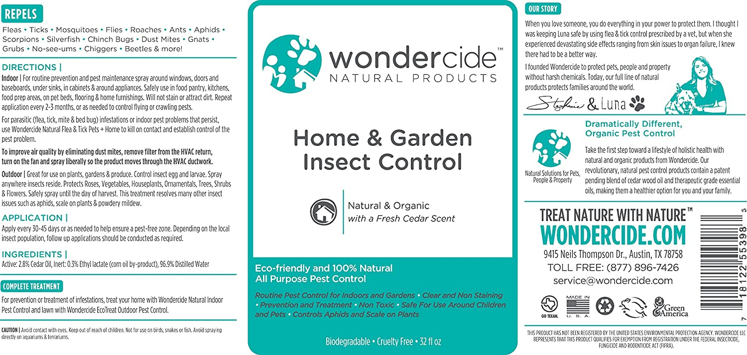 amazoncom wondercide all purpose organic home garden insect control 32 oz spray patio lawn garden - Home And Garden Pest Control