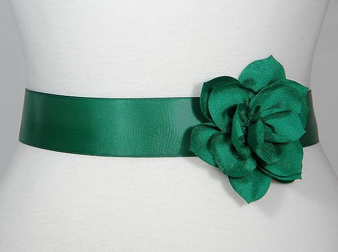 Amazon.com: Green Bridal Sash, Wedding Belt, Bridal Belt, Flower ...