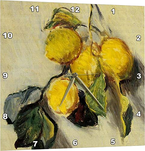 3dRose Branch of Lemons Claude Monet Painting Cropped Dated 1883, PD-US – Wall Clock, 13 by 13-Inch DPP_179198_2