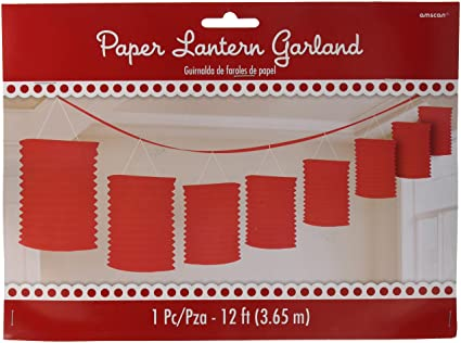 amazon com accordion style paper lantern garlands apple red