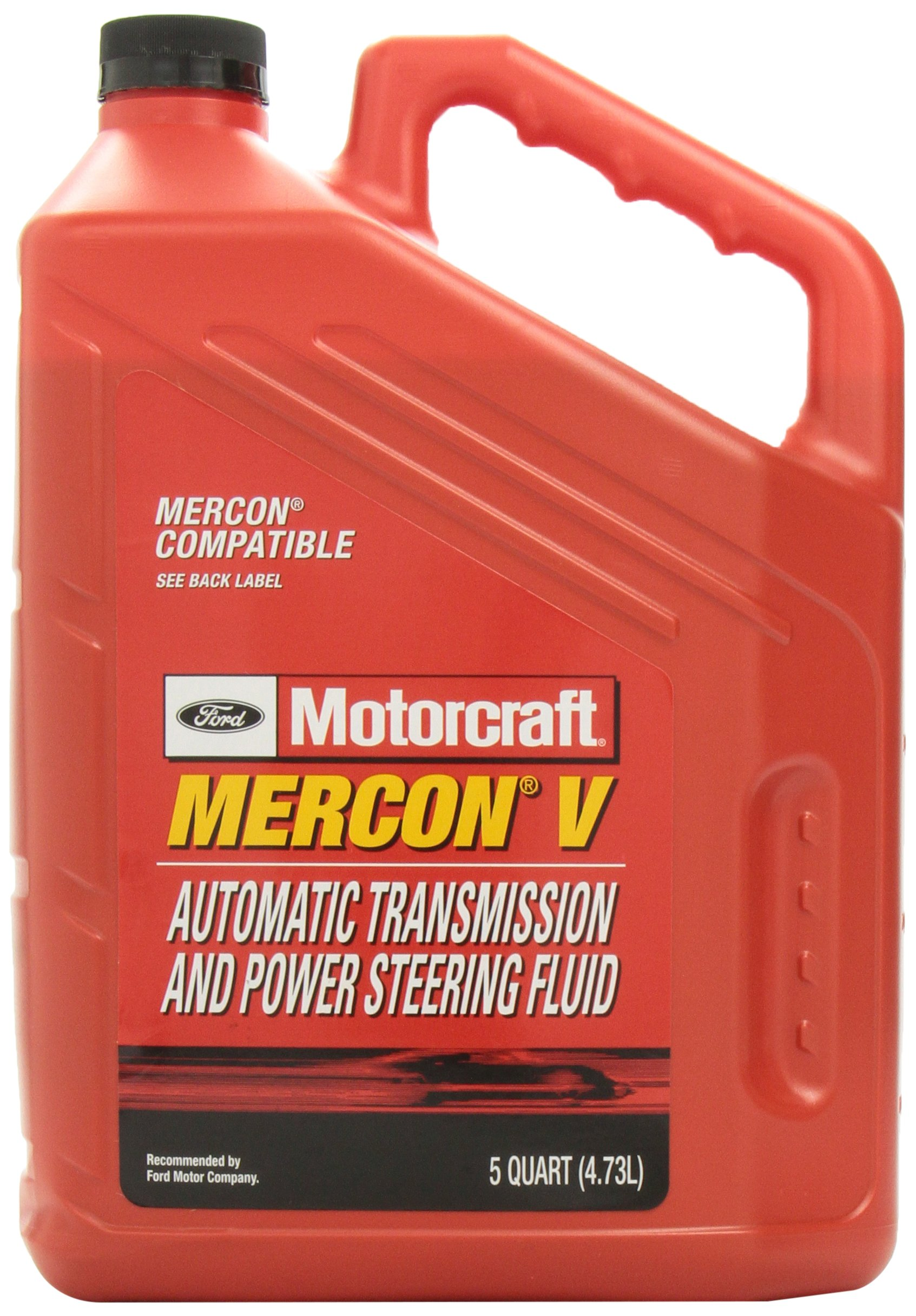 Genuine Ford XT-5-5QM MERCON-V Automatic Transmission and Power Steering Fluid - 5 Quart by Ford