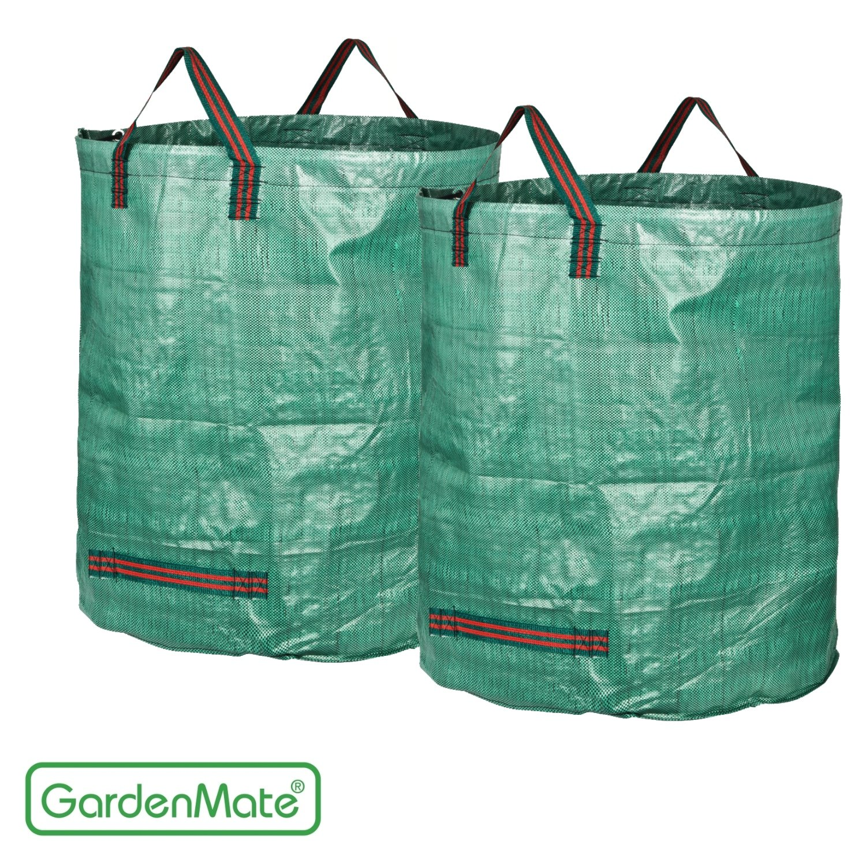 GardenMate 2-Pack 106 Gallons Garden Waste Bags PROFESSIONAL - Double Layer Bottom - Reusable Bag