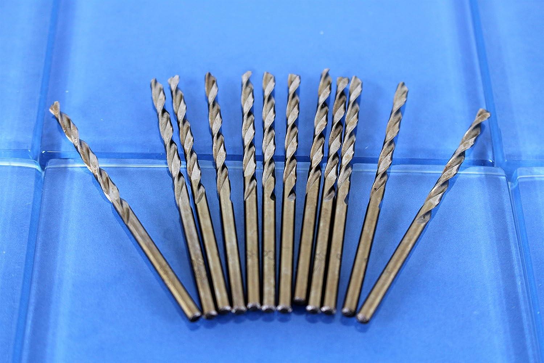 Cobalt 135-Degree Jobber Drill Bit 4.5 inch Length 3.2mm TEMO 12 pc 1//8 inch