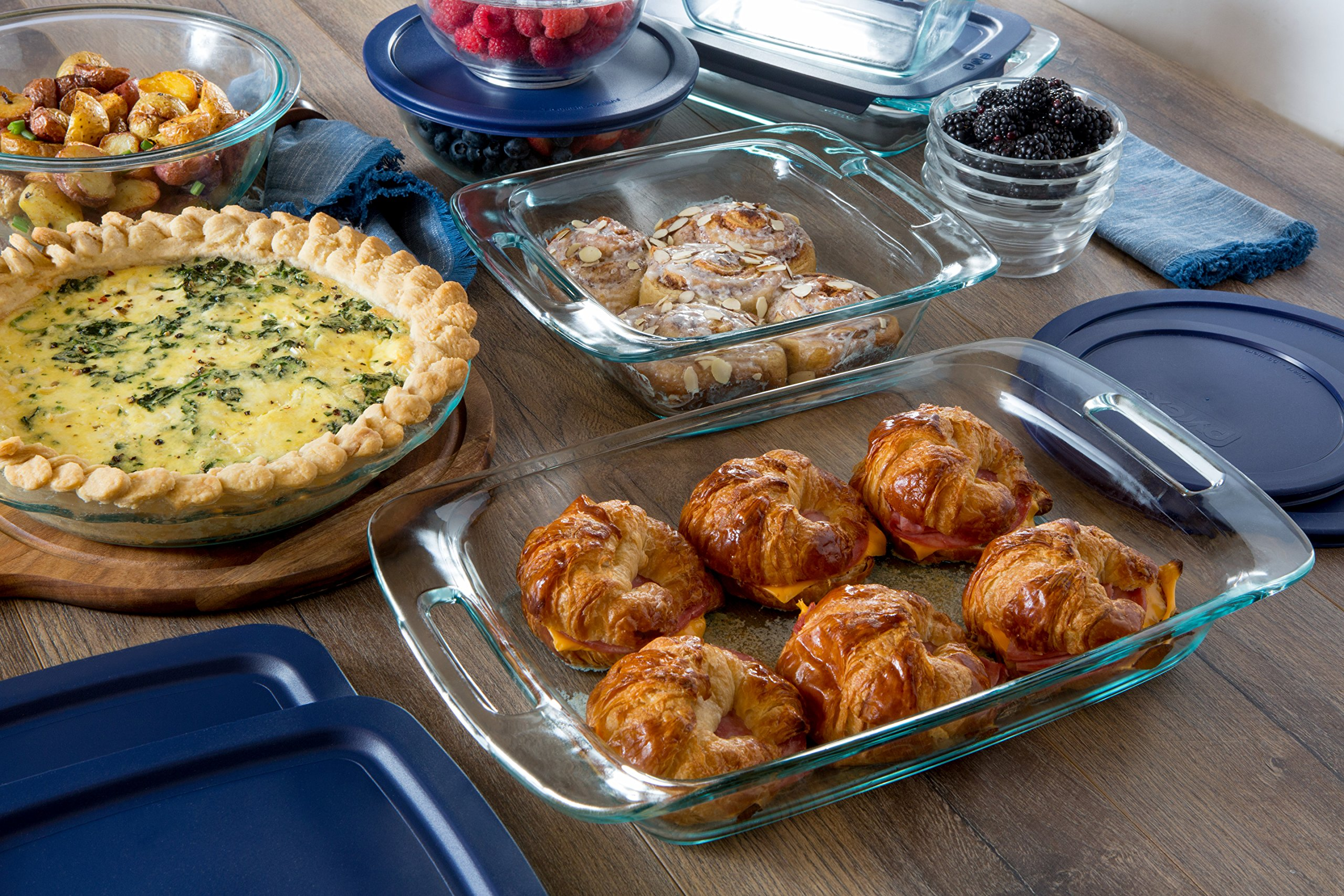 Pyrex Easy Grab Glass Bakeware and Food Storage Set (8-Piece, BPA-free) by Pyrex (Image #2)