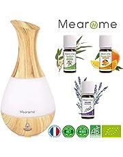 Aceites Esenciales Para Humidificador Aromaterapia Set De Regalo Aromaterapia Aceites de Lavanda Naranja Eucalipto 10ml Difusor de Aceite Esencial LED