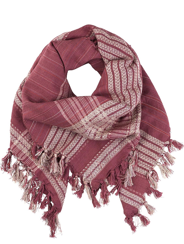 becksöndergaard Quadratischer Schal / Tuch Azalea in rot und weiss ( Hawthorn Rose ) aus weicher Baumwolle 115x115 cm 1607607001-017