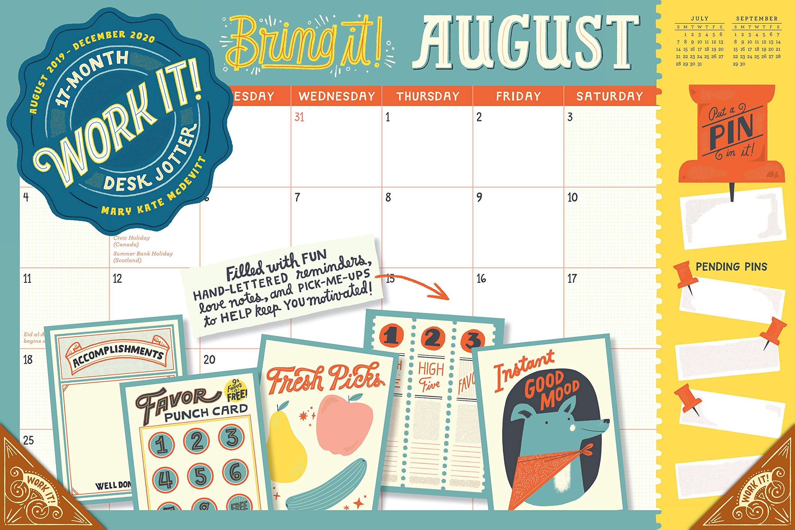 Summer Begins 2020.Work It 17 Month Desk Jotter 2020 Mary Kate Mcdevitt