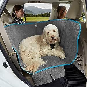 "Kurgo Wander Dog Hammock Style Seat Cover for Pets, Pet Seat Cover, Dog Car Hammock, Water-Resistant, Khaki, 27.5"" Wide, Heather Charcoal Grey, Model:K01783"