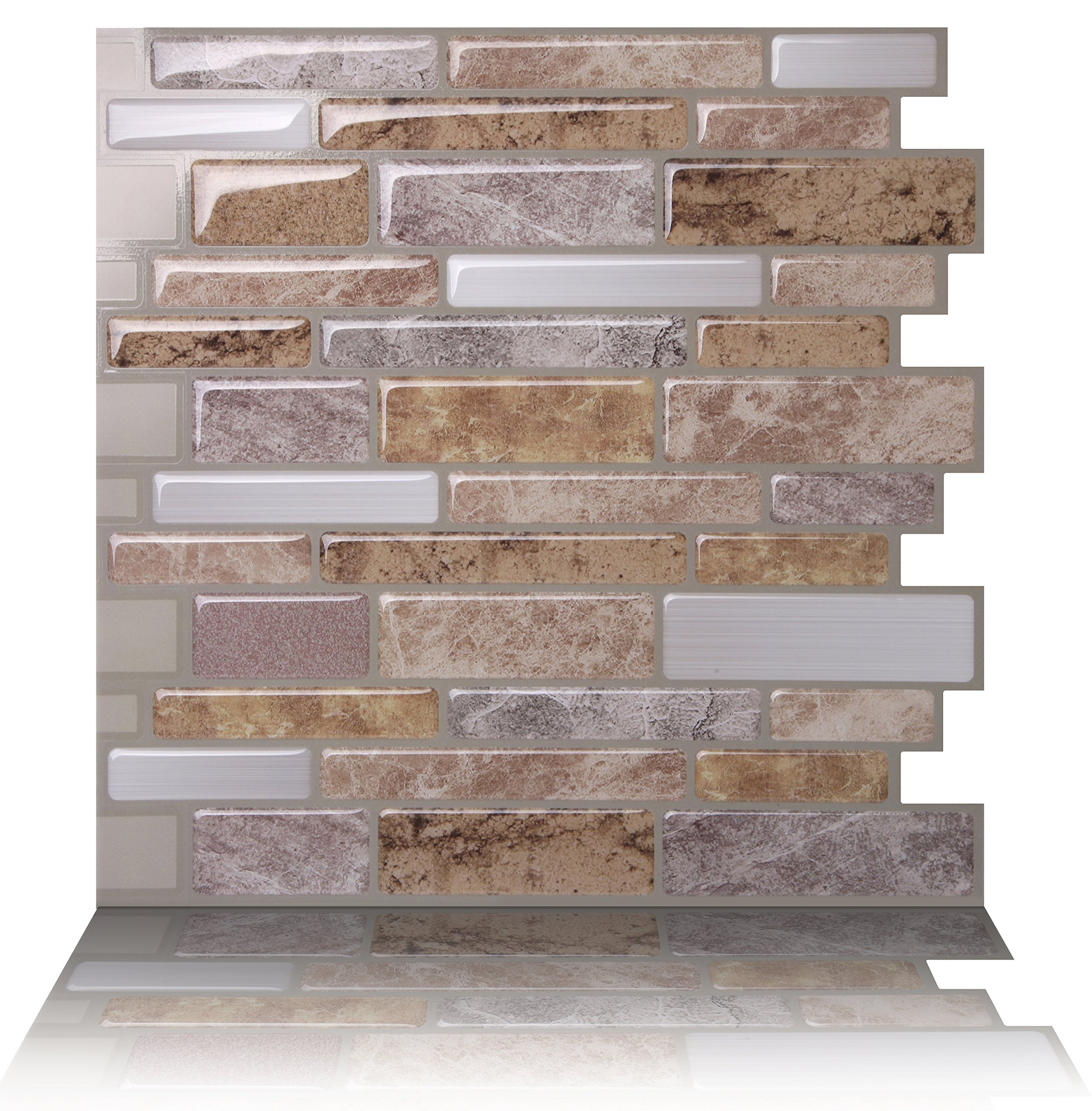 Tic Tac Tiles Anti-Mold Peel and Stick Wall Tile in Polito Fresco (10 Tiles)