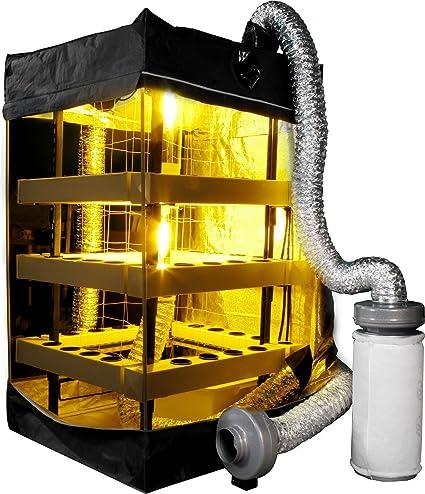 Amazon com : Supercloset 5x5 Buddha Box 400w Hydroponic Grow