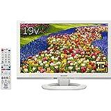 シャープ 19V型 液晶 テレビ AQUOS LC-19K40-W ハイビジョン 外付HDD対応(裏番組録画) ホワイト