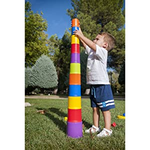Image: Miniland Giantte Stacking Cups | With 10 progressively-sized cups | a fun stacking and nesting toy | indoors and out