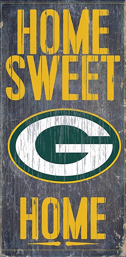Amazon.com: Green Bay Packers Letrero De Madera – Home Sweet ...