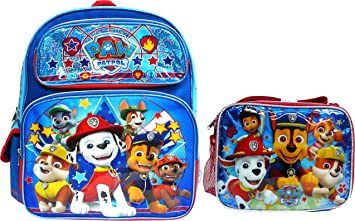 Paw Patrol Boys Girls School Backpack Lunch box Book Bag SET Kids Gift Toy