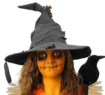 Espantapájaros Disfraz Juego de accesorios - Look gorro + Kit de disfraz de naranja pintura facial Halloween unisex: Amazon.es: Ropa y accesorios