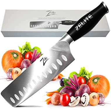 Zelite Infinity Nakiri Chef Knife - Comfort-Pro Series - High Carbon Stainless Steel Knives X50 Cr MoV 15 >> 7  (178mm)