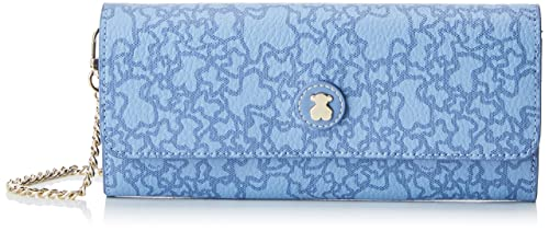 Tous Kaos Mini Lona, Cartera para Mujer, Azul (Jeans) 2x10x22 cm (
