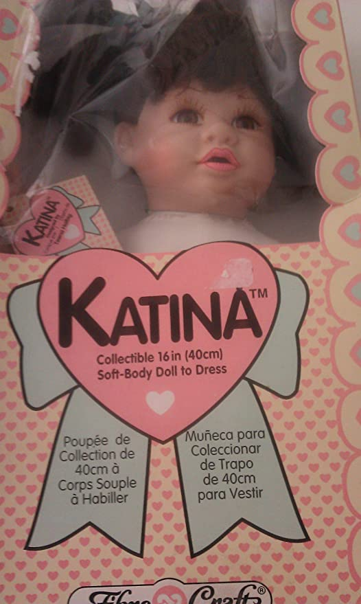 Amazon.com: Katina Collectible 16 inch Soft-Body Doll To Dress Designed by Teena Halbig: Toys & Games